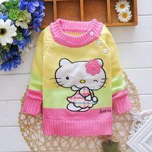 2017 Nova Marca Meninas Outono Cardigan Crianças Camisola para Meninos Camisola Do Bebê Infantil Meninas Malha Crianças Jaqueta Single-Breasted(China (Mainland))