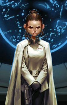 Admiral Rey by Grobi-Grafik Star Wars Sith, Clone Wars, Star Trek, Pop Art, Star Wars Fan Art, Star Wars Humor, Fantasy Women, Pop Culture, Sci Fi