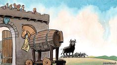 jajajajjajaja jajajajjajaja BUENÍSIMA jajajajajjaja   RT @Passim_ES: La viñeta de Peter Schrank para The Economist
