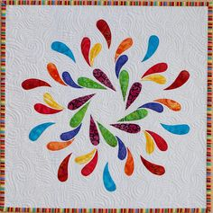 splash!  I'm not a big quilt fan, but I could SO see this on my bed!!!  Gorgeous!