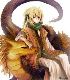 Zeno sitting fabulously on a dragon... | Akatsuki no Yona❦