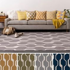 Table-Tufted Wyck Polyester Rug (7'6 x 9'6)   Overstock.com Shopping - The Best…