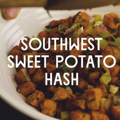 Southwest Sweet Potato Hash // Sweet potatoes provide gorgeous orange color and a boost of nutrition to this favorite brunch side dish. Make it spicy or mild to suit your tastes by adjusting the amount of jalapeño. Toss leftovers with baby arugula and sliced red onions for a satisfying salad the next day.
