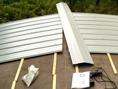 Mobile Home Metal Roof Replacement Install DIY   Mobile Home Repair