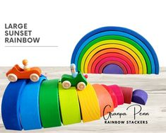 Grimm's Toys, Montessori Toys, Wooden Puzzles, Imaginative Play, Thoughtful Gifts, Rainbow Colors, Cleaning Wipes, Nursery, Schools