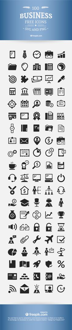 [Download] Free Business Icons – 100% Vectors