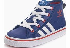 low priced 1dd07 3b5de Adidas Originals Nizza Hi Toddler Infant Trainers A retro classic has been  downsized and sweetened up