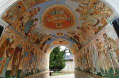 Durau Monastery Entrance by Daniel Calin Famous Castles, Future Travel, Wonderful Places, Romania, Fresco, Catholic, Entrance, Past, Scenery