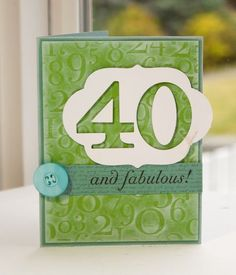 """I like the style of this card by Lisa Johnson which uses the Big Birthday Wishes for the """"and fabulous!"""" a stamp set from Papertrey Ink"""