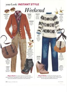 Pants for the Weekend Orange Cardigan, Orange Sweaters, People Style Watch, Instyle Magazine, Denim Outfits, Fashion Outfits, Wardrobe Basics, Everyday Fashion, Autumn Fashion