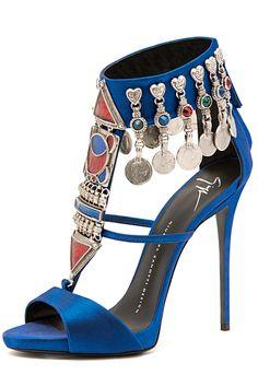 Giuseppe Zanotti Blue Sandal Spring 2015 #Shoes #Heels