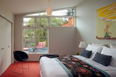 modern bedroom windows | operational (open and closed);