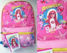 90s Barbie Backpack Vintage Hot Pink Barbie by trashedbytime