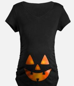 Happy Pumpkin Face Maternity T-Shirt for