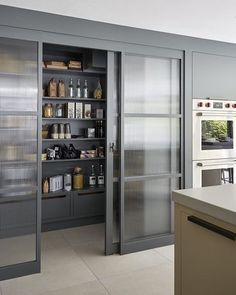 """G&M Daily Interior Inspiration on Instagram: """"Now this is a real stunner of a larder. Beautiful. @mowlemandco completely love the sliding glass doors.  #pantry #pantryorganization…"""" Lockers, Locker Storage, Cabinet, Room, Furniture, Home Decor, Footlocker, Bedroom, Homemade Home Decor"""