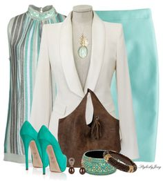 """Versatile White Blazer"" by stylesbyjoey on Polyvore"