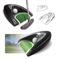 Flashback Friday - Golf Putting Aid  Back in 2005 Bayly designed a new generation golf putting aid device incorporating laser technology for the brand Laser Putt.  The product destined for practice uses a solenoid to return the ball after it is sensed in the cup while laser beams in either side of the cup entrance create guidelines on the floor assisting the user to practice their shot. Soft rubber strips at the top create better grip while the aluminium finish plastic plastic bezels create…