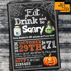 Adult Halloween Party Invitations adult halloween party invite free design ideas detail style best cool background Halloween Invitation Eat Drink Be Scary Halloween Party Adult Halloween Invite