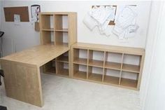 IKEA Sewing Room Ideas - I like this configuration and I have the right pieces a. - IKEA Sewing Room Ideas – I like this configuration and I have the right pieces already! Ikea Sewing Rooms, My Sewing Room, Sewing Spaces, Sewing Room Decor, Ikea Craft Room, Craft Room Storage, Storage Ideas, Ikea Storage, Craft Desk