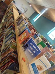 Did you know October is National Cookie Month?  :)  We celebrated with this display of picture books.
