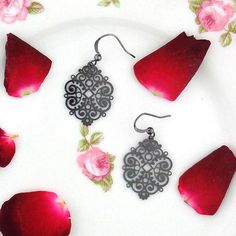 Online Shopping For LAVISHY Unique And Beautiful Filigree Earrings – LAVISHY Boutique Filigree Earrings, Gold Plated Earrings, Pendant Earrings, Flower Earrings, Fashion Accessories, Fashion Jewelry, Resin Flowers, How To Make Light, Gifts For Family