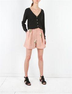 Creatures of Comfort Kalen Shorts- Flora Pink Cactus Print, Boho Style, Boho Fashion, Short Dresses, Floral Prints, Creatures, Shorts, Pink, Women
