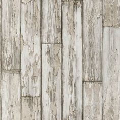 Peeling Planks (W0050/02) - Clarke & Clarke Wallpapers - A natural wood paneling in a photo finish effect. Showing in birch wood colouring - more colours are available. Please request a sample for true colour match. Paste-the-wall product.