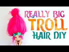 Big Troll Hair DIY - Easy to Make Costume Piece! ♥ Fleece Fun