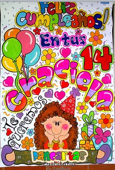 Carteleras Birthday Party Decorations, Birthday Parties, Grammar Book, Illustrations And Posters, Diy Gifts, Disneyland, Graffiti, Letters, Blog