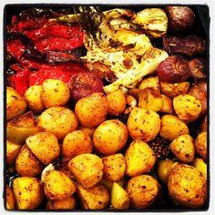 פלפלים, שומר, פרסה, שום, בצלצלונים ותפוחי אדמה
