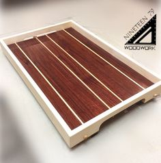 Teds Woodworking® - Woodworking Plans & Projects With Videos - Custom Carpentry Pallet Tray, Wood Tray, Diy Cutting Board, Wood Cutting Boards, Cook Book Stand, Wooden Serving Trays, Small Wood Projects, Candle Wall Sconces, Wood Gifts