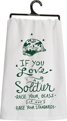 Item # 25537 | Tea Towel - A Soldier | Primitives by Kathy