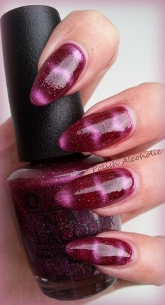 Morning, Moneypenny, a gorgeous plum filled with fine glitter - from the new magnetic collection as part of the OPI/007 Bond collection out now.