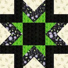 Morning Star Quilt Block Pattern