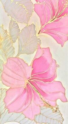 Hand Painted Silk Scarf, Japanese Silk Scarf, Yellow Scarf, Small Pink Silk Scarf, Pink and gold Haw - Designs - Pink And Gold Wallpaper, Pink And Gold Background, Flower Wallpaper, Of Wallpaper, Pattern Wallpaper, Lock Screen Wallpaper, Carillons Diy, Iphone Background Wallpaper, Silk Art