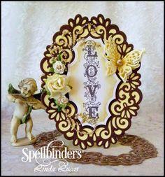 Lovely Linda's Craft Central!!: Spellbinders Heirloom Oval Tutorial