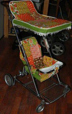 1971~Our first stroller was just like this! Top o' the line Cosco.