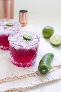 Spicy Pomegranate Margaritas