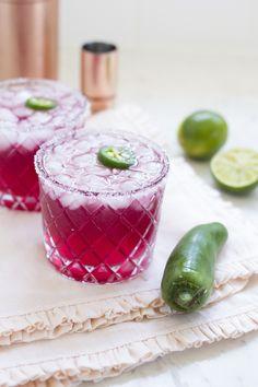 Spicy Pomegranate Margaritas