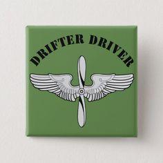 Drifter Driver Pinback Button