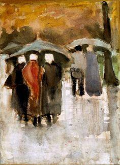 Vincent van Gogh, Dans la pluie, 1882 Gemeentemuseum Den Haag