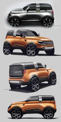 Daily Sketch: Land Rover by Tom Underhill gallery: Tom's work: https://www.behance.net/tombleu