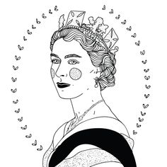 Queenie - A5 print by Phieillustrates on Etsy