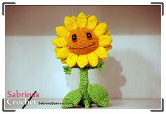 2000 Free Amigurumi Patterns: Free crochet pattern Sunflower (Plants vs Zombies)
