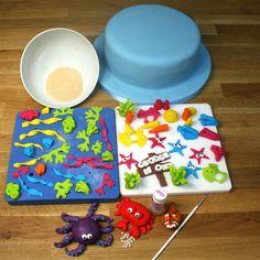 Under The Sea Cake Tutorials | Sugarpaste Coral & Sponges
