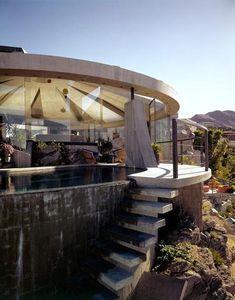 John Lautner's 1968 Elrod House in Palm Springs, CA.