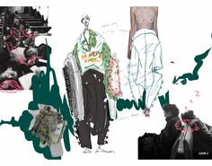 ARTS THREAD Portfolios - ARTS THREAD Mise En Page Portfolio Mode, Fashion Portfolio Layout, Fashion Design Sketchbook, Fashion Sketches, Portfolio Design, Drawing Fashion, Dress Sketches, Fashion Illustration Collage, Illustration Mode
