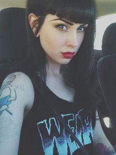 Pretty red lipstick
