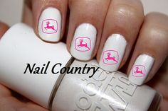 50pc Country Pink John Deere Logo Nail Decals Nail Art Nail Stickers Best Price On Etsy NC176 on Etsy, $3.99