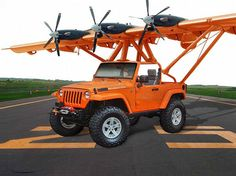 Flying Jeep Rubicon Perfect combo for Clint and I! Plane for him, Jeep for me! Jeep Cj7, Jeep Rubicon, Jeep Wrangler, 4x4, Offroader, Custom Jeep, Custom Trucks, Cool Jeeps, Jeep Truck